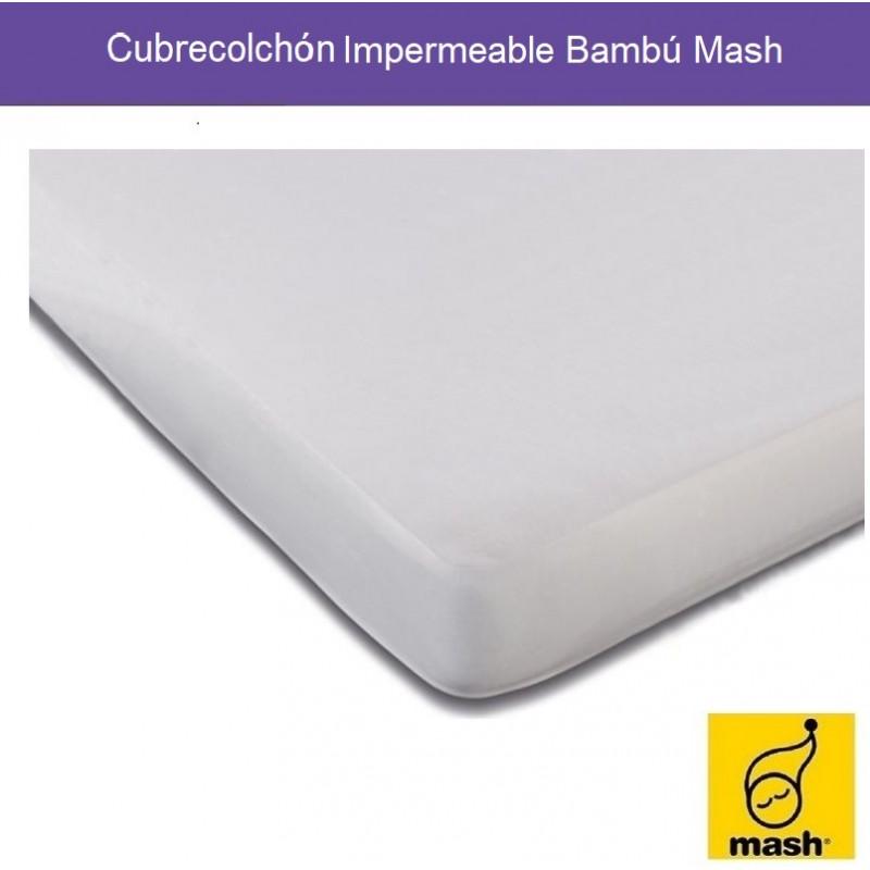 Cubrecolchón Impermeable Transpirable Bambú Mash