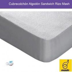 Cubrecolchón Algodón Sandwich Rizo Mash