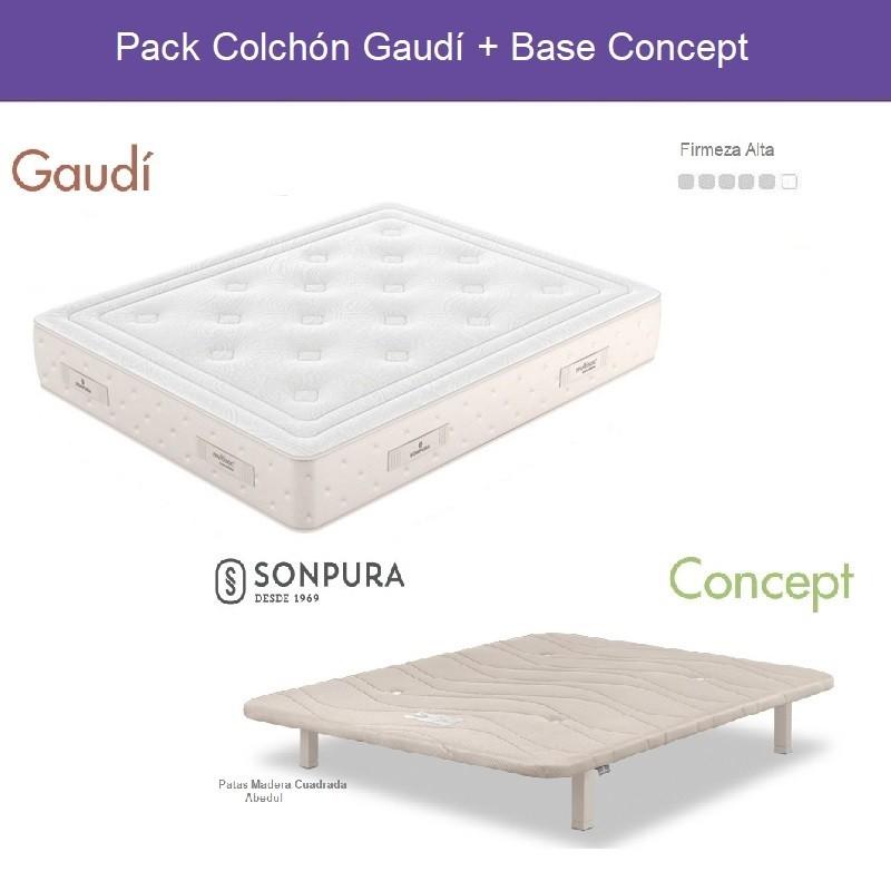 Pack Ahorro Colchón Sonpura Gaudí + Base Concept