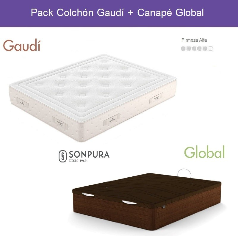 Pack Ahorro Colchón Gaudí y Canapé Global Sonpura