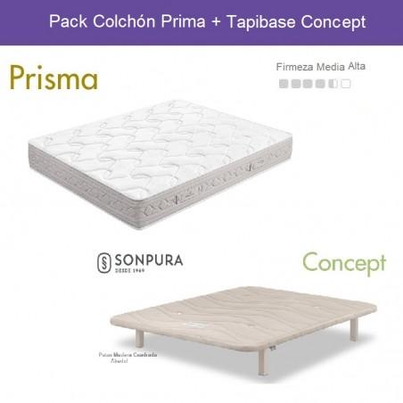 Pack Ahorro Colchón Prisma + Base Concept