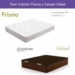 Pack Ahorro Colchón Prisma + Canapé Global Sonpura